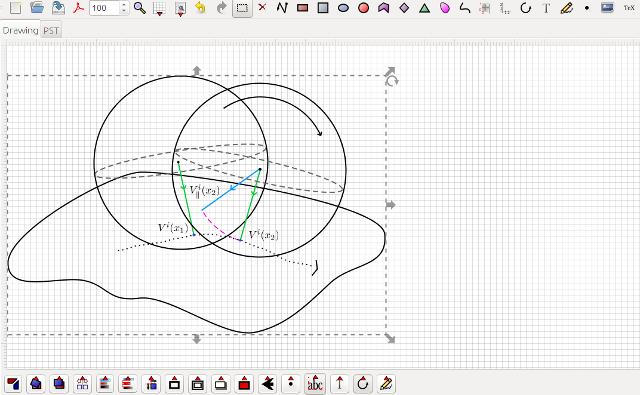 Latexdraw a vector drawing editor for latex add usepackage commands as it is already possible in latexdraw 20 you can also discover in the screen shots others new features but i will speak ccuart Gallery